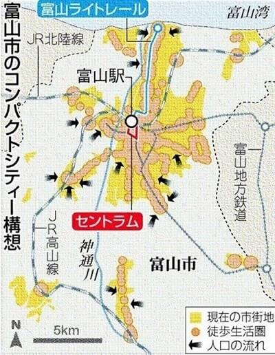 富山市のコンパクトシティー構想
