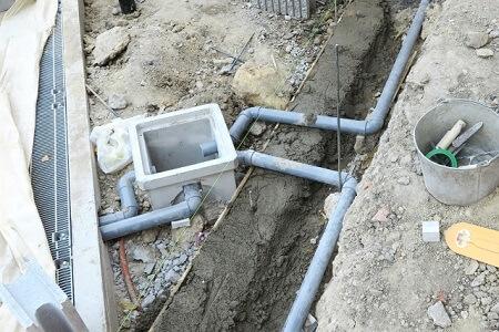 水道管の埋設状況